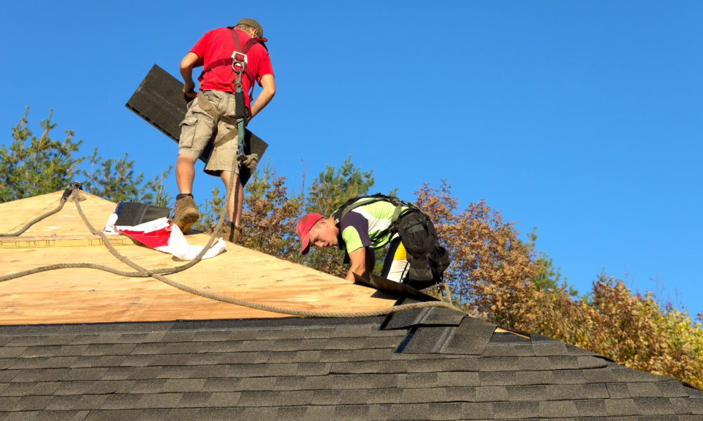 Roofers with Safety Equipment